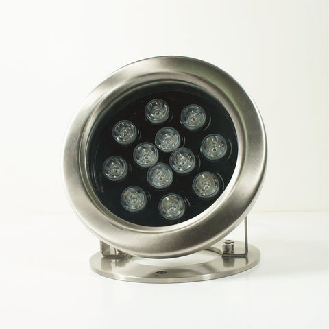 Free Shipping 4 Pack 12W LED Under Water Light, Stainless Steel Housing, 168mm in Diameter, Single Color DC24V, IP68 Waterproof Fountain Light