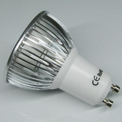 Image of 4Pack 3W(3x1W) 120V/220V AC LED Spotlight GU10 Bi-Pin Base LED Light Bulb Aluminum Housing 30° Beam Angle