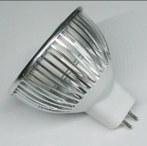 4Pack 3W(3x1W) 12V AC/DC LED Spotlight MR16 LED Bulb Light GU5.3 Bi-Pin Base Aluminum Housing 30° Beam Angle