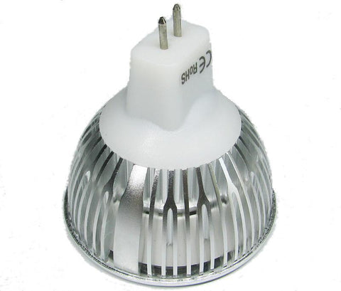 Image of 4Pack 3W(3x1W) 12V AC/DC LED Spotlight MR16 LED Bulb Light GU5.3 Bi-Pin Base Aluminum Housing 30° Beam Angle