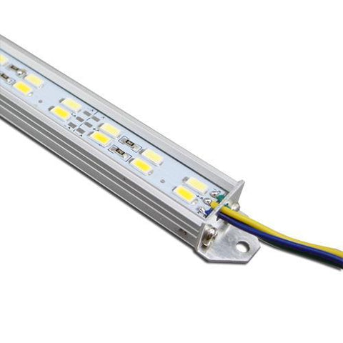 Image of 5 / 10 Pack SMD5630 Double Row Rigid LED Strip lighting 144LEDs per Meter with U Aluminum Shell