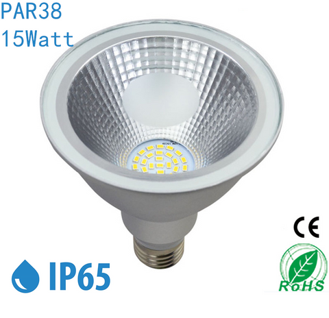 Image of Outdoor PAR38 LED Light Bulb 15W 1110Lumen (100W Equivalent) 120-degree Flood Beam E27/E26 Non-Dimmable Waterproof IP65 Par Light