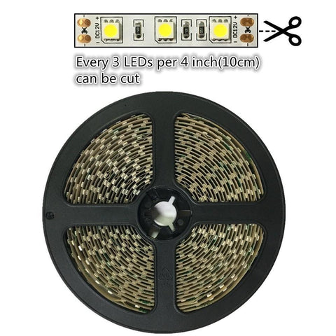 Image of DC 12V Dimmable 670NM Red SMD5050-300 Flexible LED Strips 60 LEDs Per Meter 8mm Width 12W Per Meter