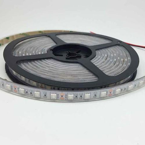 DC 12V Dimmable 670NM Red SMD5050-300 Flexible LED Strips 60 LEDs Per Meter 8mm Width 12W Per Meter