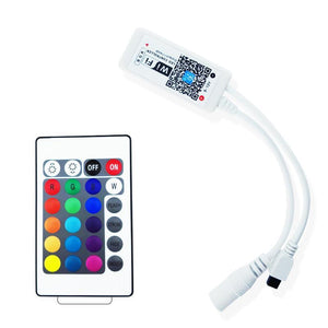 Wireless WiFi Smart Phone APP LED Controller or with 24Key IR Remote Controller for RGBW/RGBWW LED Flexible Strip Lights