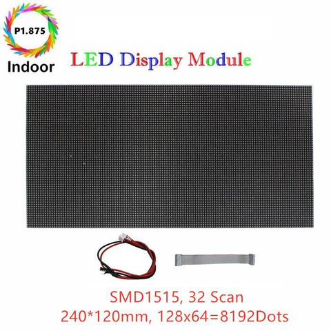 Image of M-HD1.8 High Definition P1.875 (1.875mm) Small Pixel Pitch Indoor LED Module, Full RGB Pixel LED Tile in 240*120mm with 8192 dots, 1/32 Scan, 800 Nitsfor indoor Display