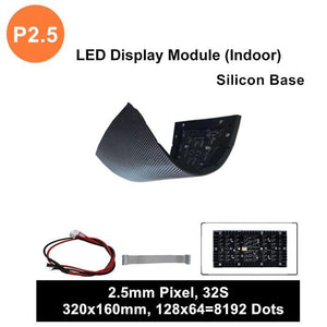 M-SF2.5L (P2.5) Silicon Based LED Module, 2.5mm Full RGB Pixel Panel Screen in 320 * 160 mm with 8192 dots, 1/32 Scan, 800 Nits LED Tile for Indoor Display