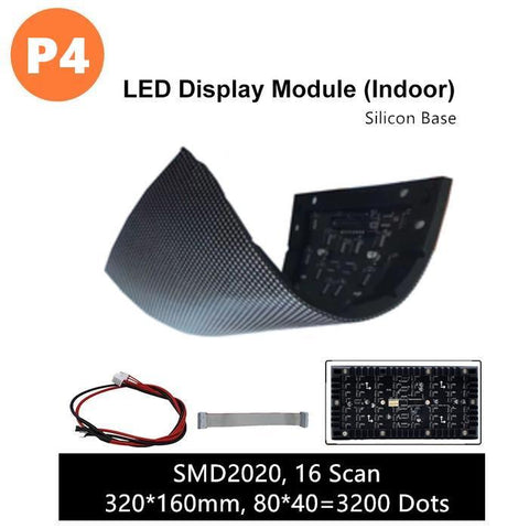 Image of M-SF4L (P4) Silicon Based LED Module, 4mm Full RGB Pixel Panel Screen in 320 * 160 mm with 3200 dots, 1/16 Scan, 800 Nits LED Tile for Indoor Display
