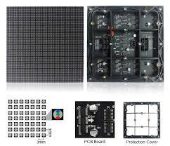 Image of M-OD3 P3 Normal Outdoor Series LED Module, Full RGB 3mm Pixel Pitch LED Tile in 192*192mm with 4096 dots, 1/16 Scan, 5000 Nits  for Outdoor Display