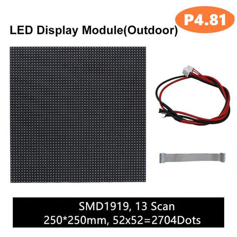 Image of M-OD4.8 (P4.8) Rental Outdoor LED Module, Full RGB 4.81mm Pixel Pitch LED Tile in 250 * 250mm with 2704 dots, 1/13 Scan, 5000 Nits For Outdoor Display