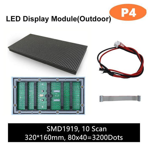 Image of M-OD4L P4 Normal Outdoor Series LED Module,Full RGB 4mm Pixel Pitch LED Tile in 320*160mm with 3200 dots, 1/10 Scan, 5000 Nits  for Outdoor Display