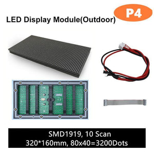 M-OD4L P4 Normal Outdoor Series LED Module,Full RGB 4mm Pixel Pitch LED Tile in 320*160mm with 3200 dots, 1/10 Scan, 5000 Nits  for Outdoor Display