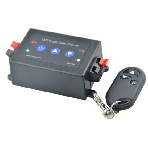 Image of 12VDC 8A RF Wireless Remote Control and Key Switch LED Dimmer for Single Color  LED Strip Lights