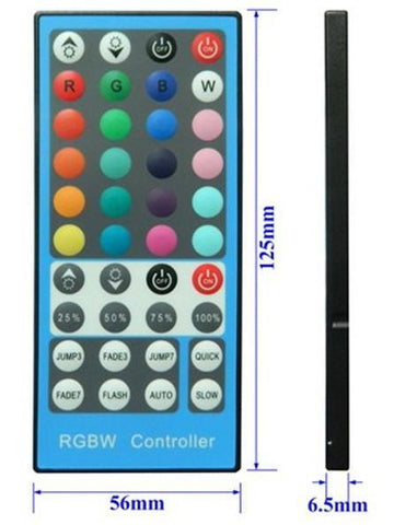 Image of 40 Keys Wilress Infrared Remote Controller for RGBW/RGBWW LED Strip Lights