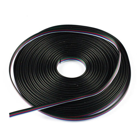 22Guage RGBW RGBWW LED Strip Extension Cable 5pin 5Color Stand Wire Bonded Flat Cable for SMD5050 RGBW RGBWW Color