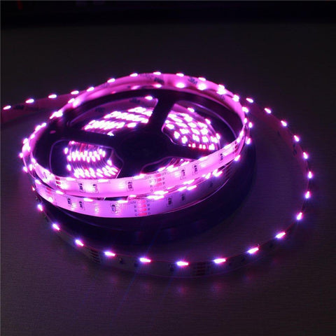 Image of DC12V  SMD020 Side Emitting RGB Color Changing LED Strip Lights 60LEDs Per Meter 10mm White PCB Flexible Adhesive Tape