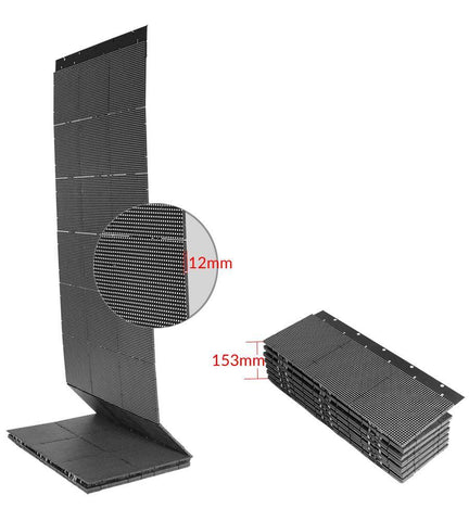 15mm Super Slim LED Curtain Display Screen 360° Foldable Patented 3.9mm|6.0mm|7.8mm Pixel Pitch Indoor LED Display