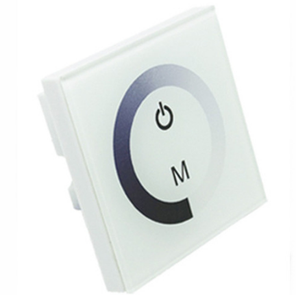 Image of 12V-24V DC TM06 Wall Panel Touchable Color Ring LED Dimmer Controller for Single Color LED Strips