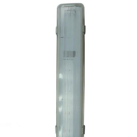Milky White Cover T8 LED Tube Lights with Striped Clear Tri-proof  T8 Tube Fixture for Single Tube