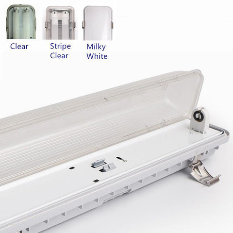 Image of LED Tube Fixture (No Tube included) for Single LED Tube  Tri-proof LED Tube Support Bracket Waterproof , Dustproof, Corrosion-Proof