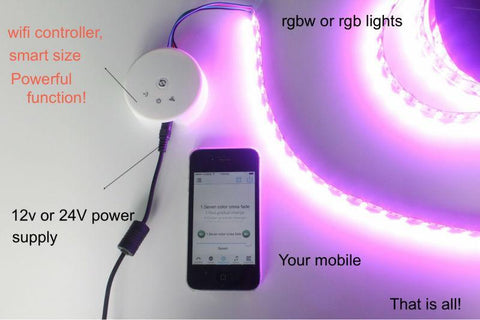 Image of UFO WiFi Smart Phone App Controllable LED RGB / RGBW Controller Wireless Controller for LED Flexible Strips
