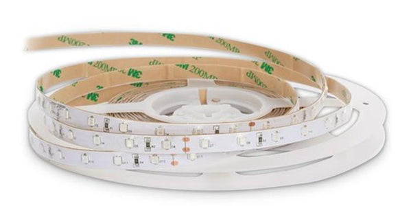 DC 12V Dimmable 735NM Red SMD2835-300 Flexible LED Strips 60 LEDs Per Meter 8mm Width 12W Per Meter