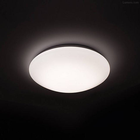 Image of 24W 14.96 inch (380mm) LED Ceiling Light Fixture CCT changable & Dimmable with RF controller Round Acrylic Shade White Finish Modern LED Flush Mount