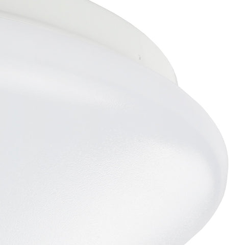 Image of 36W 19.68 inch (500mm) odern LED Flush Mount Ceiling Light Fixture Round Acrylic Shade White Finish Mushroom Shape and CCT changable with RF control