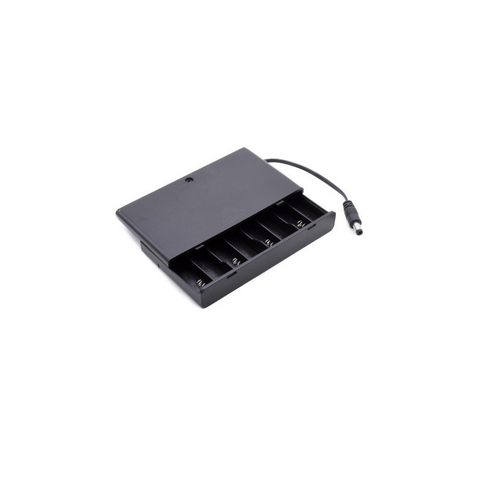 Image of Hot Sale 8x AA Battery 12V Storage Holder Box Case Battery Pack with ON-OFF Switch Black with DC plug cable in side