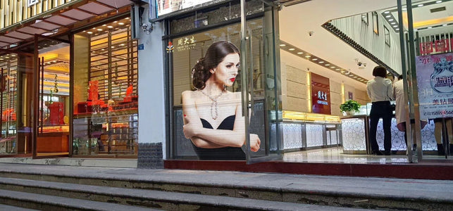 aClear Series Transparent LED Display Screen 3.9/7.8mm Pixel 1500nits/4500nits in 500x500mm Aluminum Indoor Type for Glass/Window Display