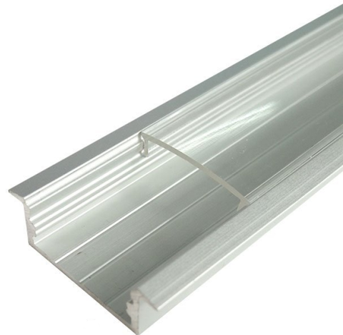 Image of 5/10/25/50 Pack Silver U03 10x30mm U-Shape Internal Width 20mm LED Aluminum Channel System with Cover, End Caps and Mounting Clips Aluminum Profile for LED Strip Light Installations