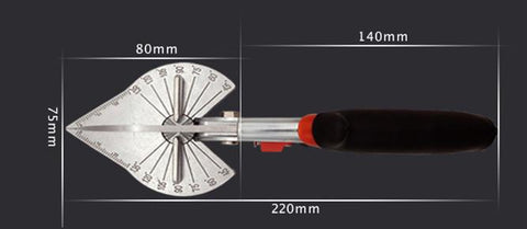 Image of The professional Multi angle shearing groove scissors for led Neon light housing with two replacement blade