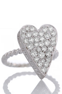 Anello Love Yourself Maxi con diamanti - Via Fratelli Lombardi 1