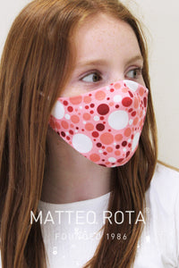 Mascherina Basic Young Rosa a pois