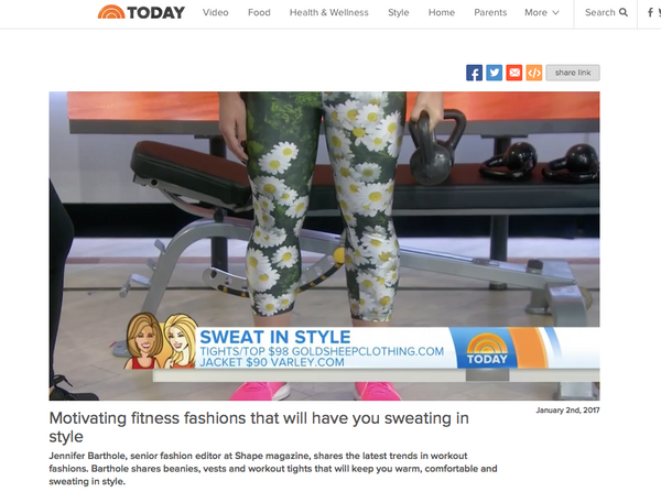 The Today Show - Fitness Trends of 2016