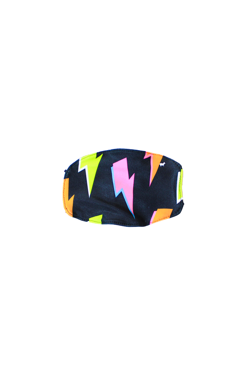 Kids Neon Lightning Bolt Face Mask