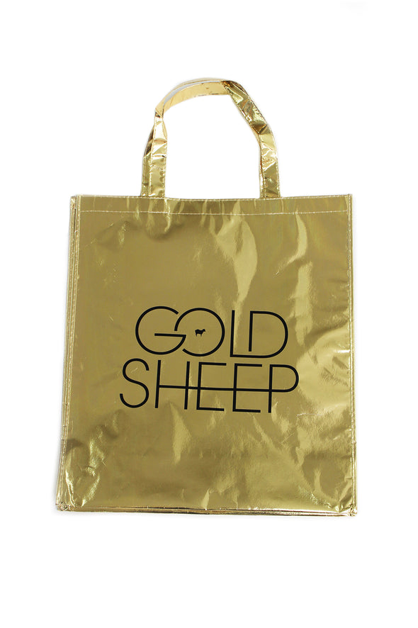 GOLDSHEEP Gold Tote Bag