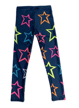 Neon Rainbow Stars Kids Legging