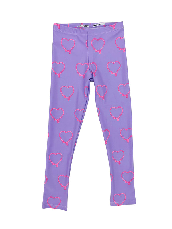 Purple Hearts Kids Legging