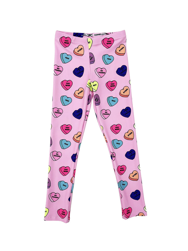 Pink Candy Hearts Kids Legging