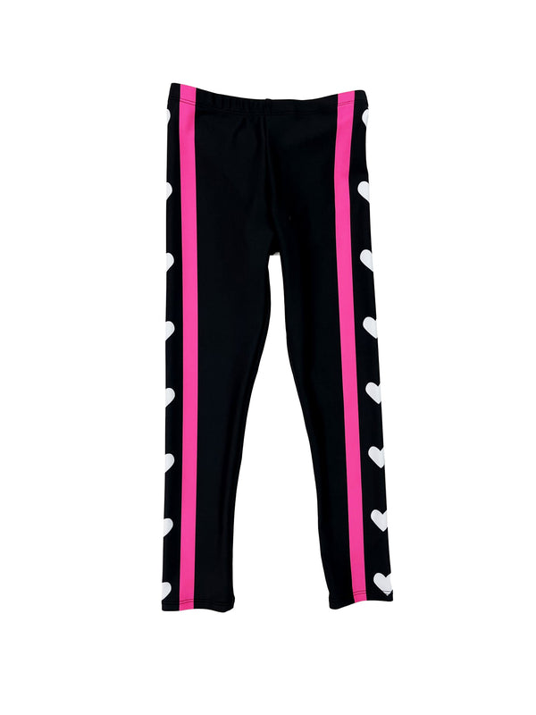 Heart Stripes Kids Legging