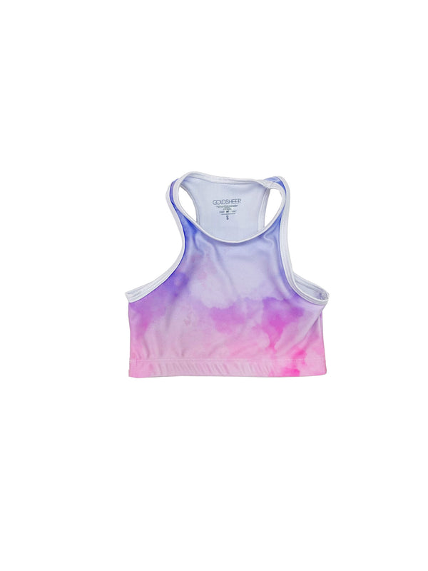 Ombré Clouds Kids Crop Top