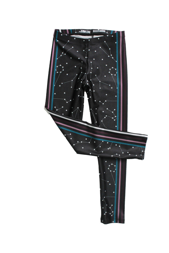 Galaxy Stripe Kids Legging