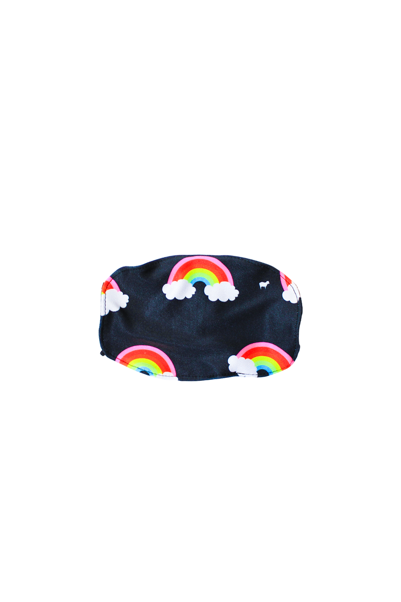 Kids Neon Mini Rainbows Face Mask