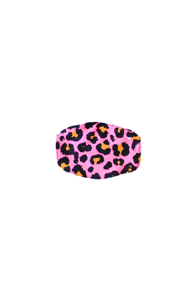 Kids Pink Cheetah Face Mask