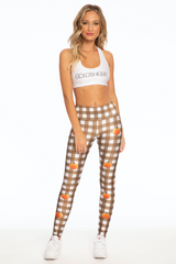 Pumpkin Gingham Legging