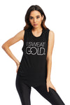 I Sweat Gold Tank Top