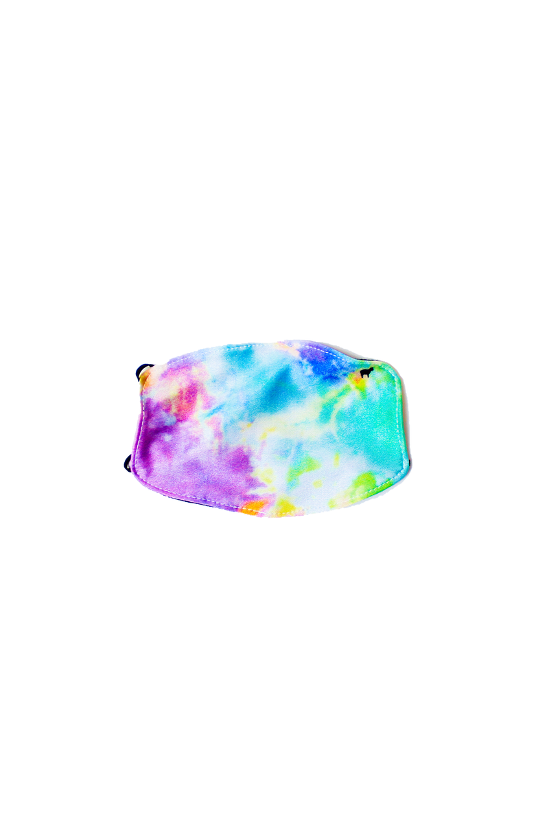 Kids Neon Tie Dye Face Mask