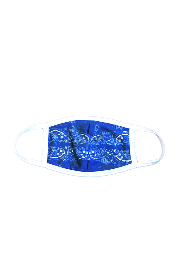 Blue Bandana Face Mask