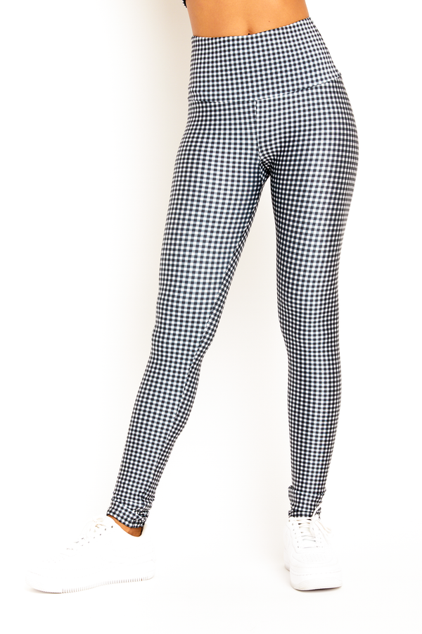 Black Gingham Legging